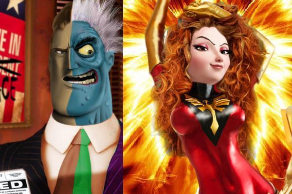 Marvel DC Pixar Mashup