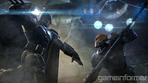 Batman vs Deathstroke in Batman: Arkham Origins