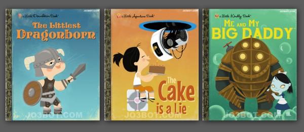 Joebot's series of kid's gaming book covers
