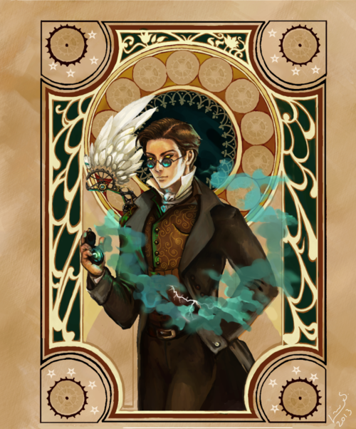 Character Fan Art Feature Crowley Good Omens Geek Pride