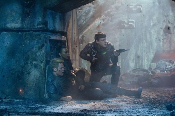 Kirk, Uhura & Spock mid-gunfight