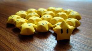 Mario Stars Origami