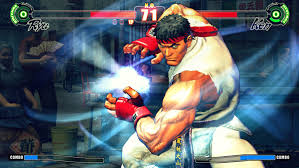 Ryu setting up for a Hadouken!