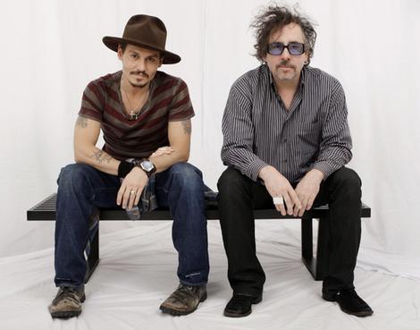 Actor Johnny Depp, left, and director Tim Burton.