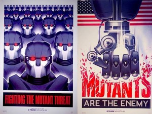 Anti-mutant propoganda, killer robots, and I heard Terry from accounts make a mean mocha-latte