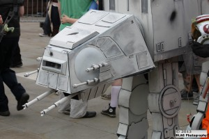 Arguably the best cosplay of the day – the attention to detail on this AT-AT from The Empire Strikes Back was incredible.
