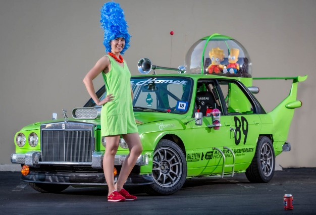 Not sure which is more disturbing, the car or Marge