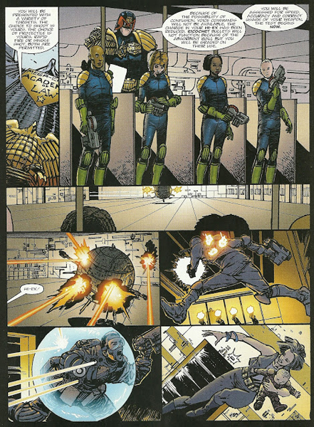 Dredd at the Academy of Law.
