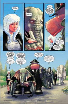 Vanity, Hip, Ebony and friends return from Blackthorne and Dekker's funeral.