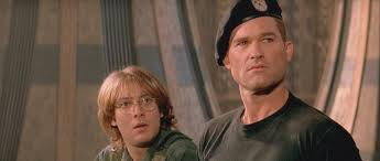 James Spader and Kurt Cameron in the 1994 Stargate film