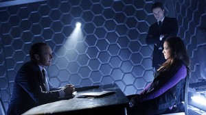Agents Coulson and Ward interrogate a suspect.