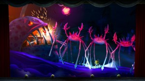 Levels take place across multiple worlds including a castle, on a pirate ship, and under the sea.