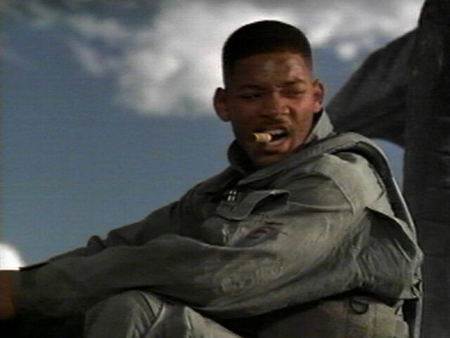 Will Smith playing Captain Steven Hiller