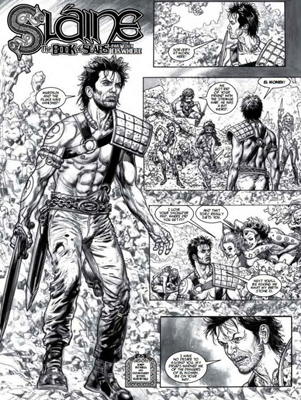 Glenn Fabry's return to Slaine after over a decade.