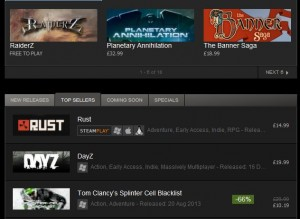 Valve never disclose exact sales figures but these two games have been at the head of the Top Sellers list since December.