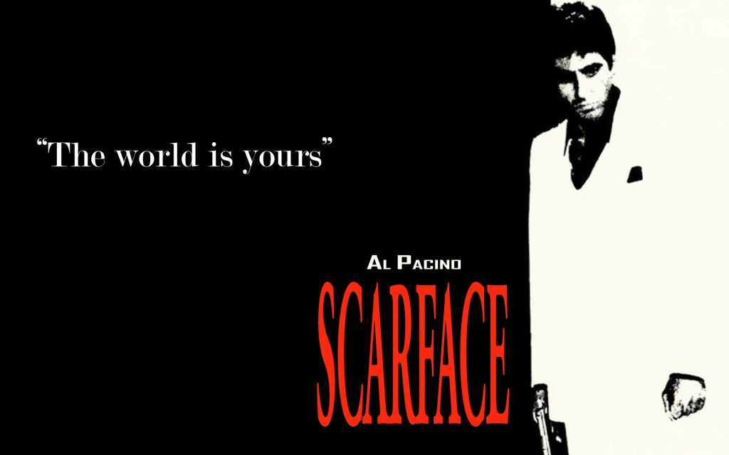 1983's monochrome scheme for Scarface showing the change in the industry over 50 years