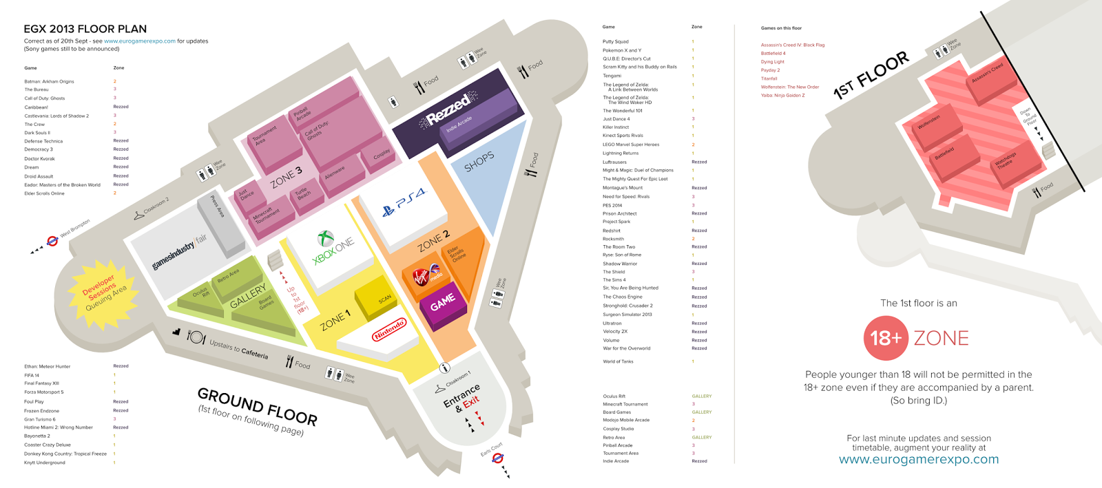 This is the floor plan from 2013's Expo... now do you see why you need a plan?
