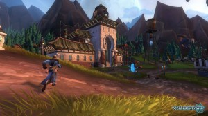 WildStar offers some truly gorgeous landscapes but it might take you a lot of grinding to see them.
