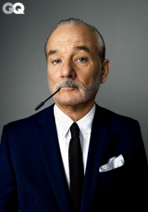 Like a Boss: Bill Murray posing for GQ Magazine