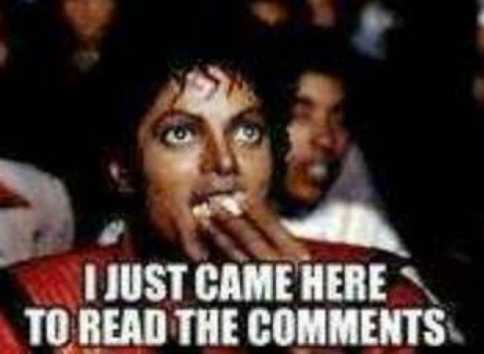 Funniest Meme Comments : Michael jackson eating popcorn making facebook comments