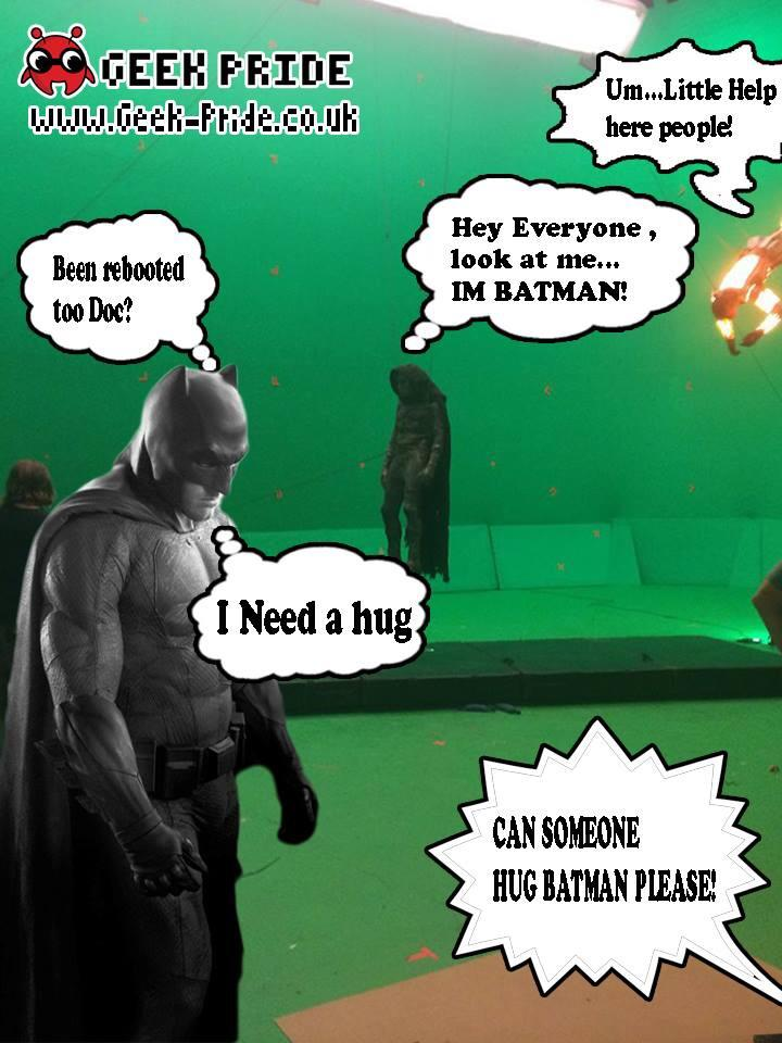 sad batman and doc doom