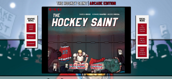 The Hockey Saint Front Cover and Website
