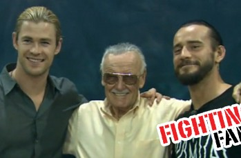 Chris Hemsworth (Thor), Stan Lee & CM Punk
