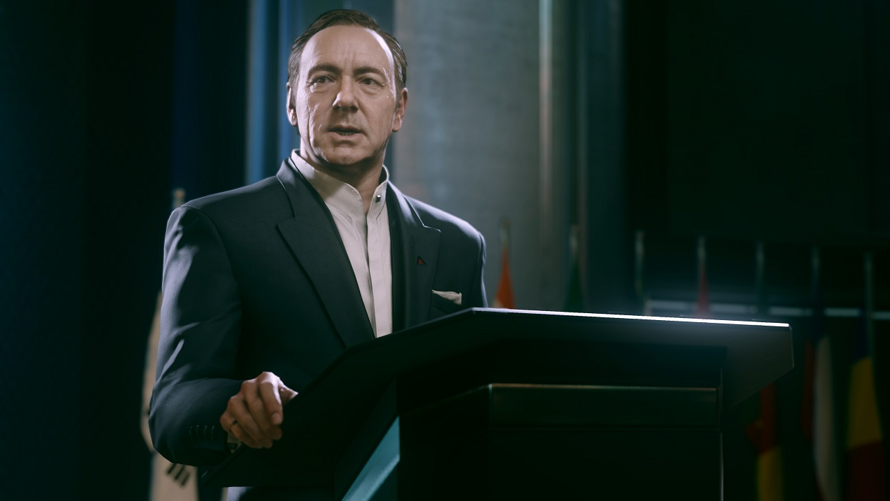 Kevin Spacey always has a commanding presence on screen, and here is no different.