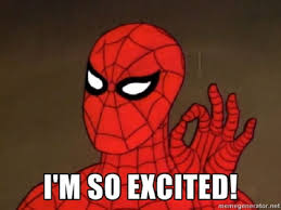 Spidey excited