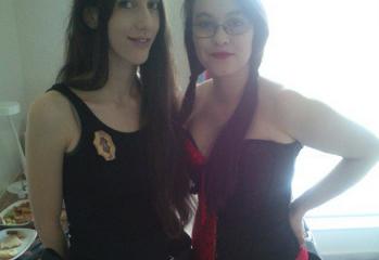 Me as Aeryn Sun and Gabi as Harley Quinn