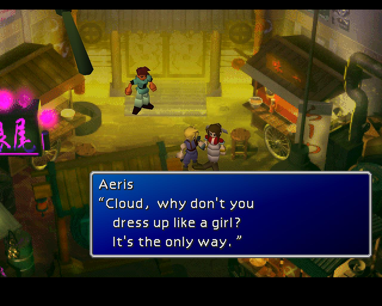 Final Fantasy VII Screenshot Cross Dressing Don Corneo