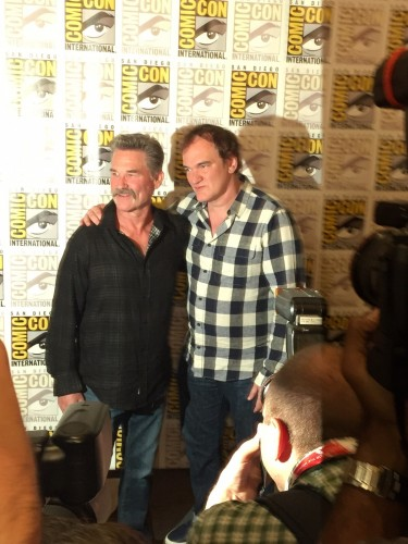 Quentin Tarantino & Kurt Russell promoting new feature The Hateful Eight.