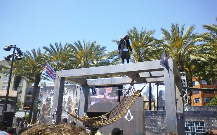They also put on parkour shows!