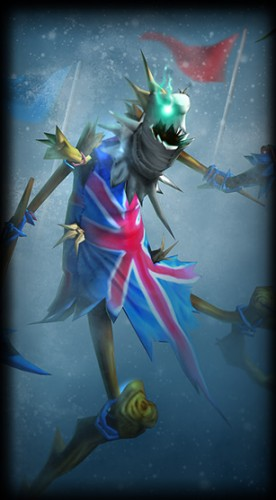 Even Fiddlesticks wears a Union Jack.