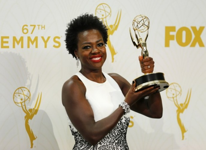 Viola Davis at the 2015 Emmy Awards.