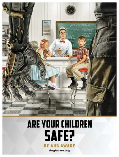 Propaganda poster used as a part of the ad campaign for Mankind Divided