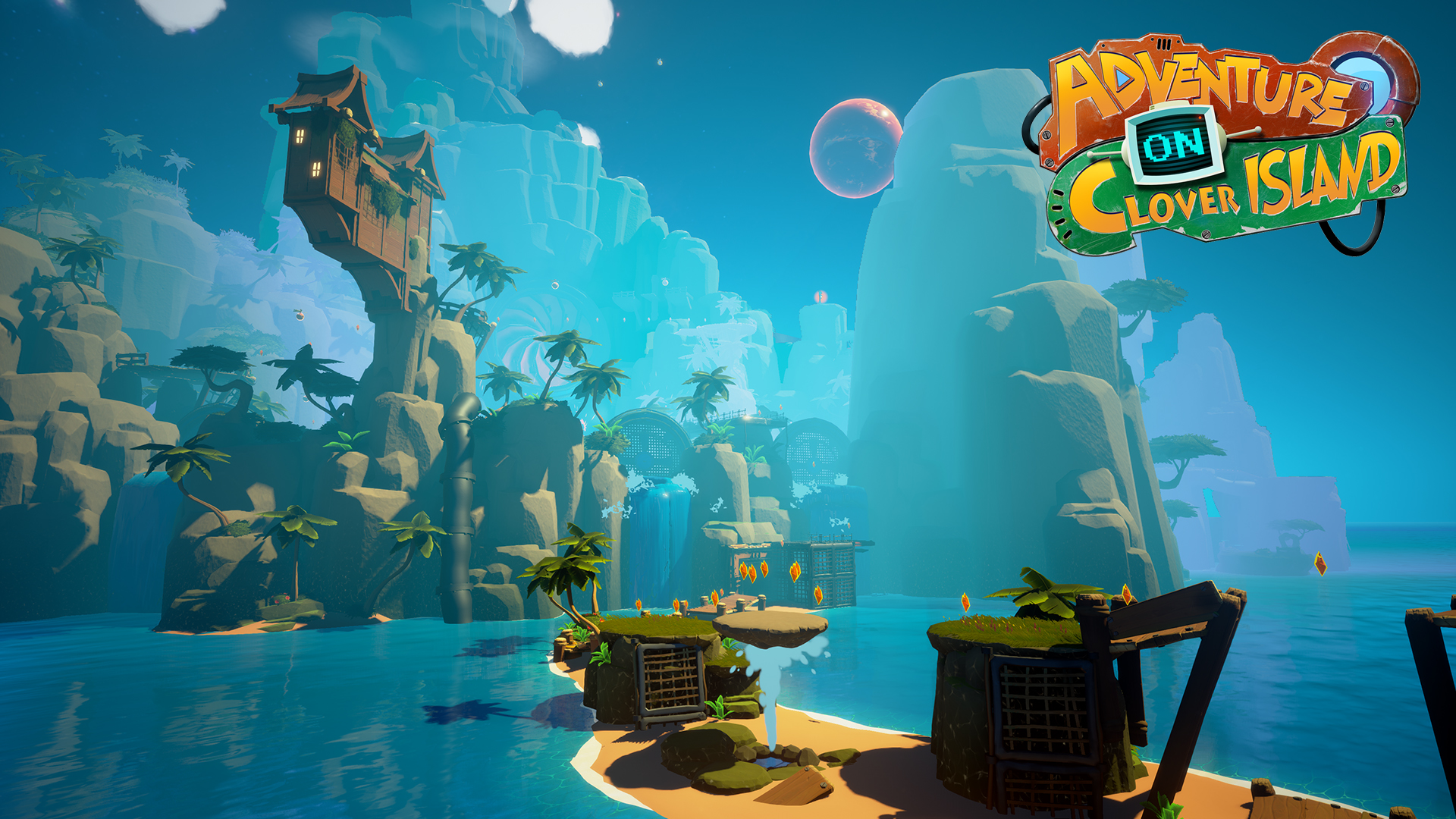 The game looks really pretty, reminding me of Ratchet & Clank a lot