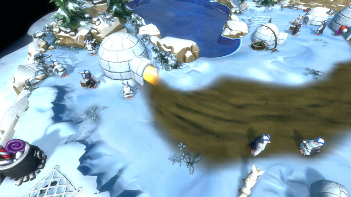 Not even the igloos are safe from your evil mittens.