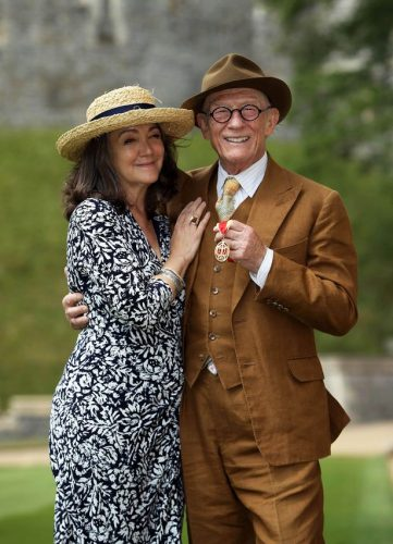 John Hurt and his 4th Wife, Anwen